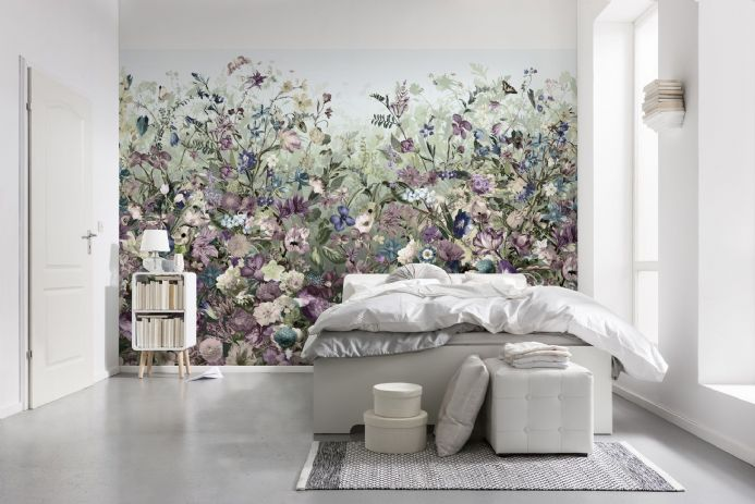 Flowers wall non woven wallpapers | homewallmurals